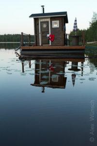 Alex Wünsch Naturfotografie Nordkarelien Finnland schwimmende Sauna See