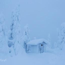 Alex Wünsch Alexandra Wünsch Einblick-Natur Fotografie Naturfotografie Winter Finnland Kuusamo Toilette WC Schnee